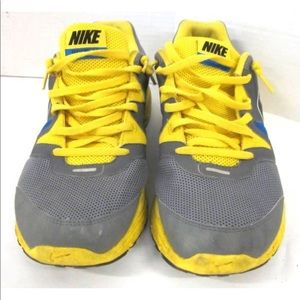 Nike Mens  Lunarfly Grey Yellow Soar Sz 11.5